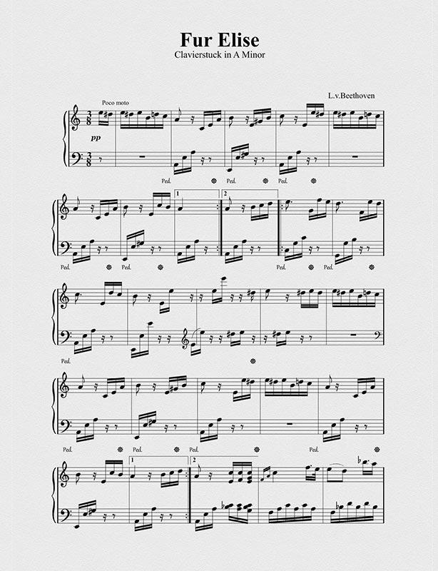 Fur Elise Sheet Music (Page 1)
