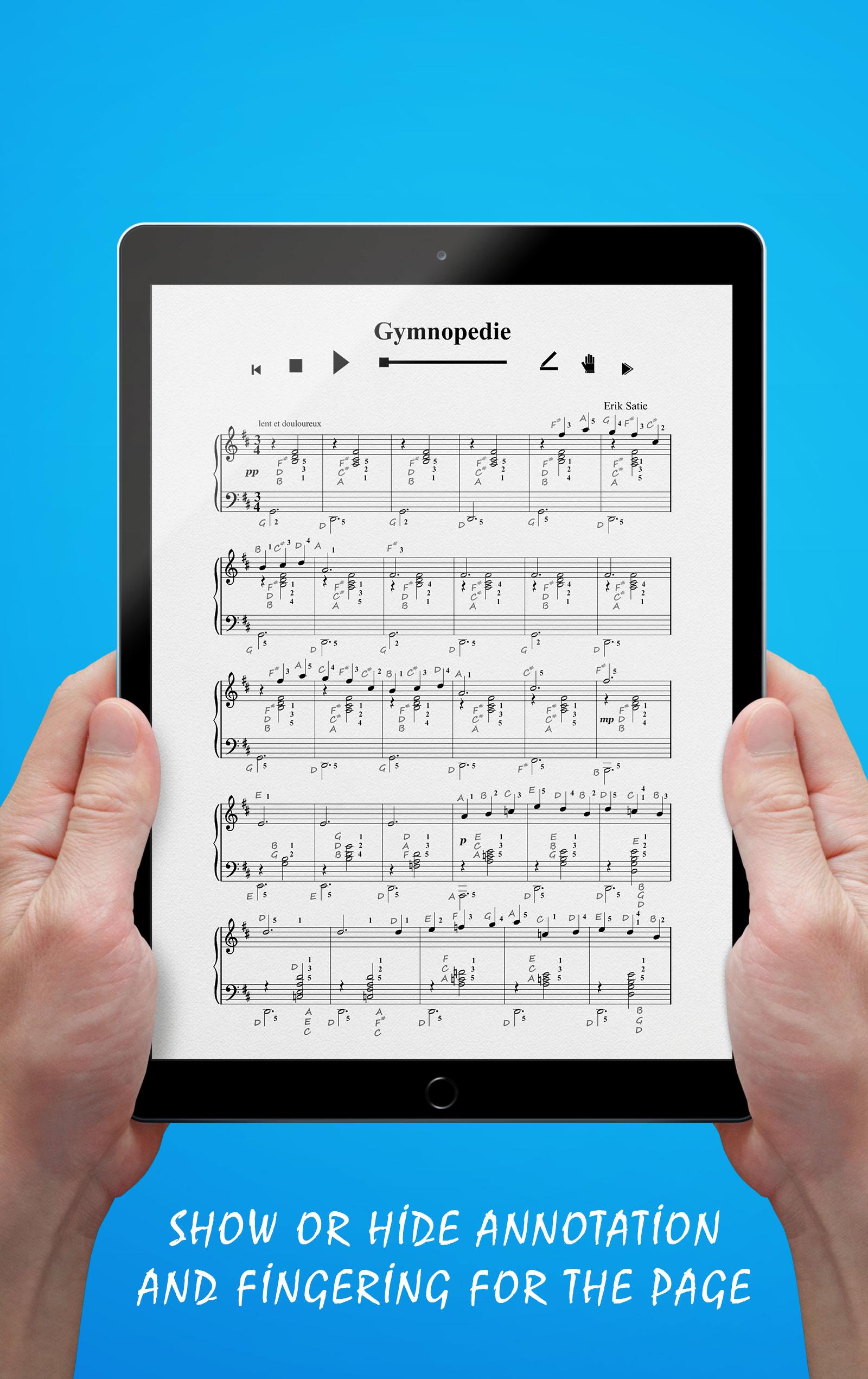 Gymnopedie No 1 (Annotation & Fingering)