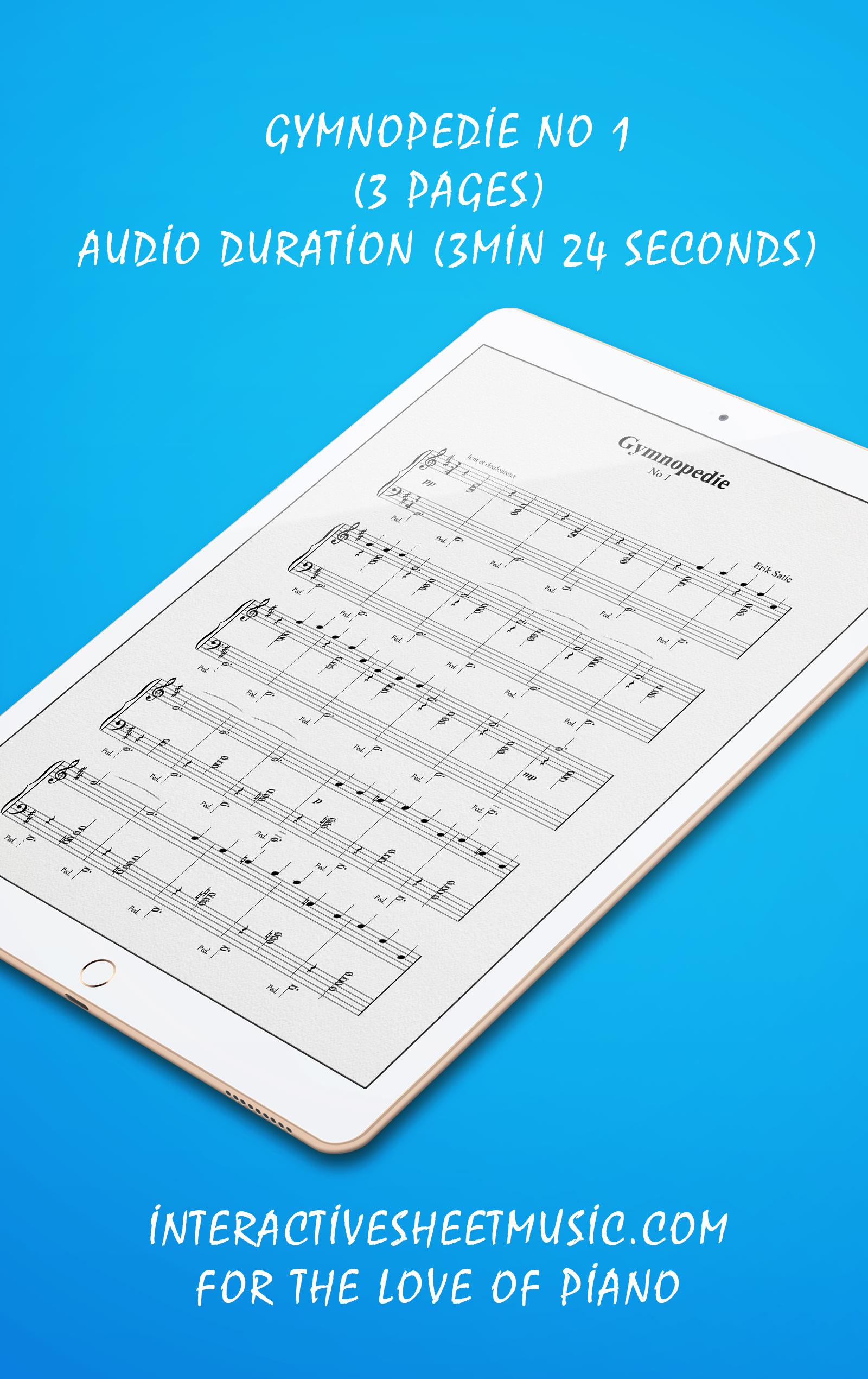 Gymnopedie No 1 Songbook Details