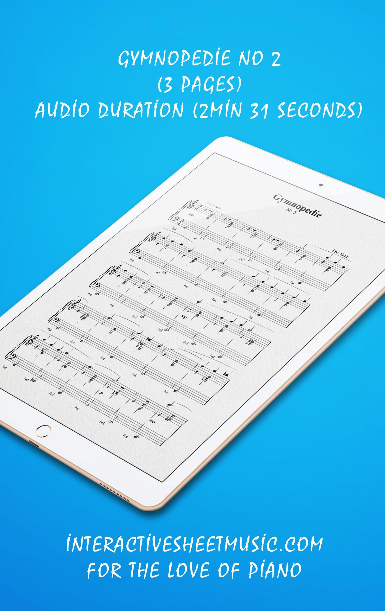 Gymnopedie No 2 Songbook Details