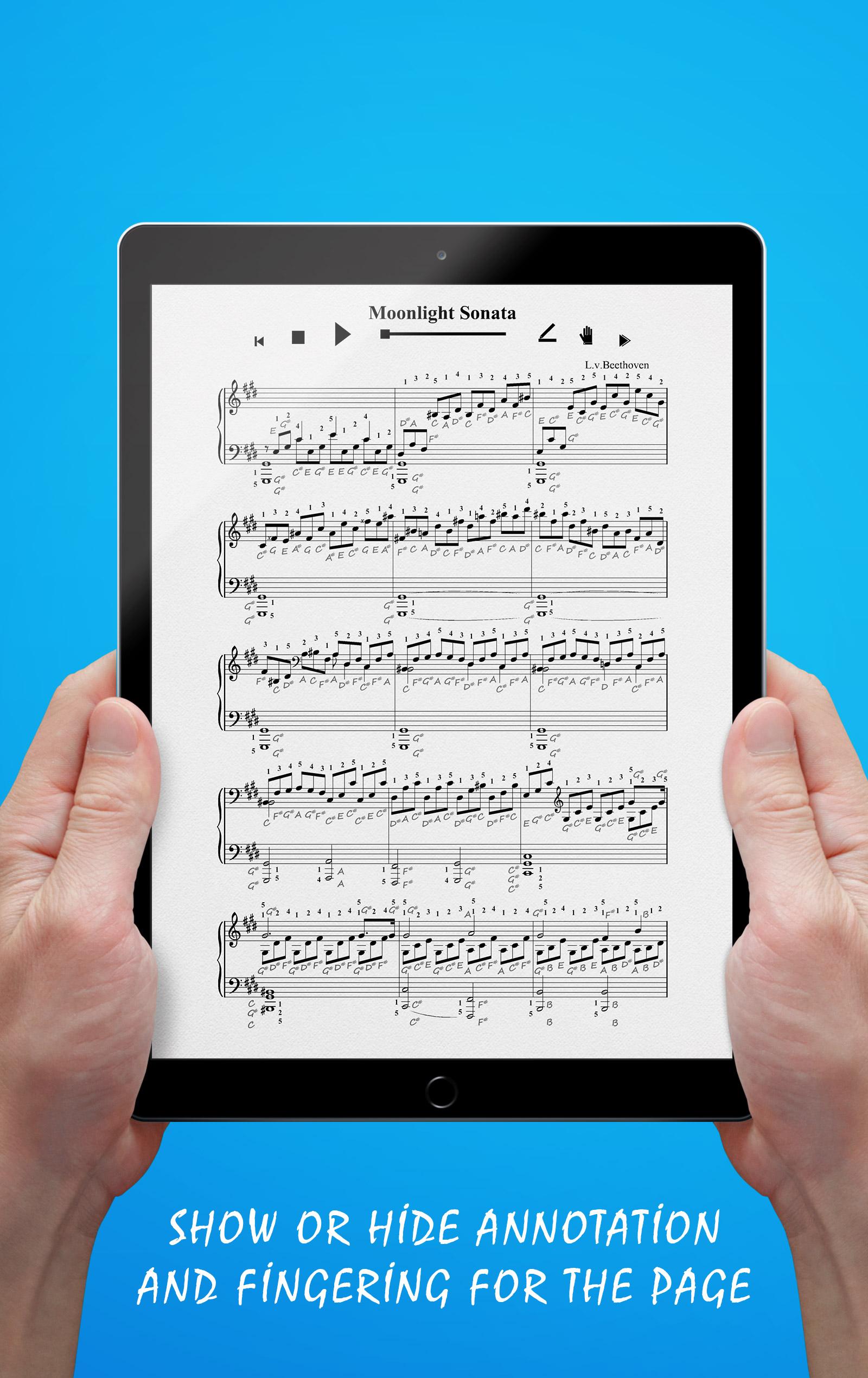Moonlight Sonata (Annotation & Fingering)